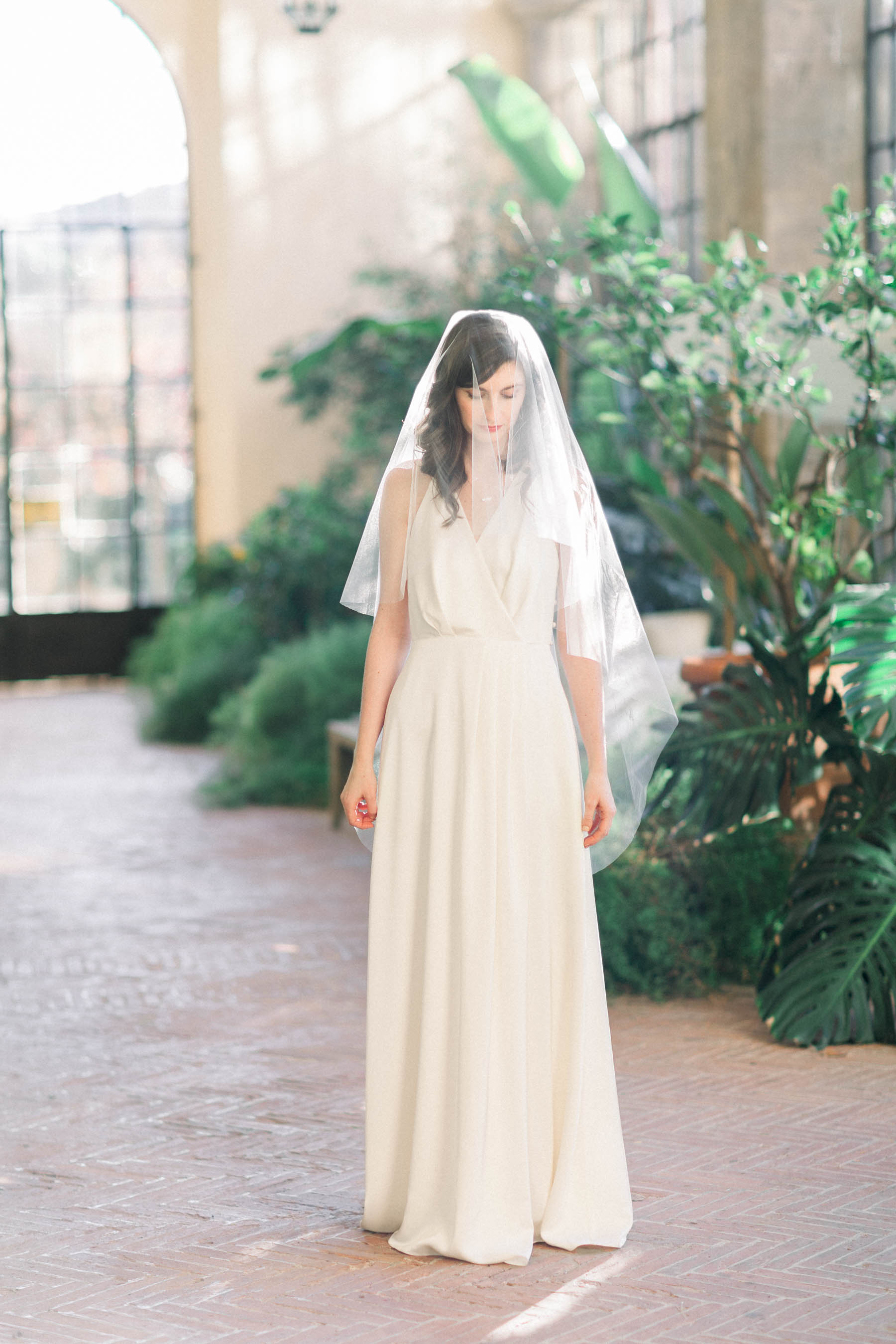 Bride in Florence during her elopement day